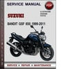 Thumbnail Suzuki Bandit GSF 650 1999-2011 Factory Service Repair Manual Download Pdf