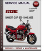 Thumbnail Suzuki Bandit GSF 600 1995-2005 Factory Service Repair Manual Download Pdf