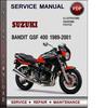 Thumbnail Suzuki Bandit GSF 400 1989-2001 Factory Service Repair Manual Download Pdf