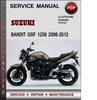 Thumbnail Suzuki Bandit GSF 1250 2006-2012 Factory Service Repair Manual Download Pdf