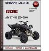 Thumbnail Suzuki ATV LT 450 2004-2009 Factory Service Repair Manual Download Pdf