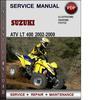 Thumbnail Suzuki ATV LT 400 2002-2009 Factory Service Repair Manual Download Pdf