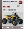 Thumbnail Suzuki ATV LT 250 1987-1998 Factory Service Repair Manual Download Pdf