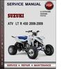 Thumbnail Suzuki ATV  LT R 450 2006-2009 Factory Service Repair Manual Download Pdf