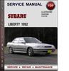 Thumbnail Subaru Liberty 1992 Factory Service Repair Manual Download Pdf