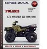 Thumbnail Polaris ATV Xplorer 500 1996-1998 Factory Service Repair Manual Download Pdf
