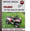 Thumbnail Polaris ATV Trail Boss 4x4 1985-1995 Factory Service Repair Manual Download Pdf