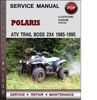 Thumbnail Polaris ATV Trail Boss 2x4 1985-1995 Factory Service Repair Manual Download Pdf