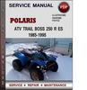 Thumbnail Polaris ATV Trail Boss 250 R ES 1985-1995 Factory Service Repair Manual Download Pdf