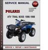 Thumbnail Polaris ATV Trail Boss 1996-1998 Factory Service Repair Manual Download Pdf