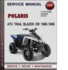 Thumbnail Polaris ATV Trail Blazer 2W 1985-1995 Factory Service Repair Manual Download Pdf