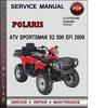 Thumbnail Polaris ATV Sportsman X2 500 EFI 2009 Factory Service Repair Manual Download Pdf