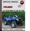 Thumbnail Polaris ATV Sportsman X2 500 EFI 2008 Factory Service Repair Manual Download Pdf