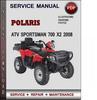 Thumbnail Polaris ATV Sportsman 700 X2 2008 Factory Service Repair Manual Download Pdf