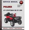 Thumbnail Polaris ATV Sportsman 500 EFI 2009 Factory Service Repair Manual Download Pdf