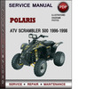 Thumbnail Polaris ATV Scrambler 500 1996-1998 Factory Service Repair Manual Download Pdf