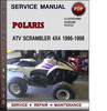 Thumbnail Polaris ATV Scrambler 4x4 1996-1998 Factory Service Repair Manual Download Pdf