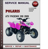 Thumbnail Polaris ATV Phoenix 200 2009 Factory Service Repair Manual Download Pdf