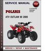 Thumbnail Polaris ATV Outlaw 90 2009 Factory Service Repair Manual Download Pdf