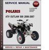 Thumbnail Polaris ATV Outlaw 500 2006-2007 Factory Service Repair Manual Download Pdf