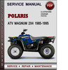 Thumbnail Polaris ATV Magnum 2x4 1985-1995 Factory Service Repair Manual Download Pdf