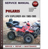 Thumbnail Polaris ATV Explorer 4x4 1985-1995 Factory Service Repair Manual Download Pdf