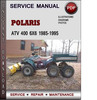 Thumbnail Polaris ATV 400 6x6 1985-1995 Factory Service Repair Manual Download Pdf