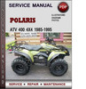 Thumbnail Polaris ATV 400 4x4 1985-1995 Factory Service Repair Manual Download Pdf
