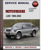 Thumbnail Mitsubishi L200 1996-2002 Factory Service Repair Manual Download Pdf