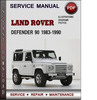 Thumbnail Land Rover Defender 90 1983-1990 Factory Service Repair Manual Download Pdf