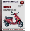 Thumbnail Kymco Scout 50 1999-2008 Factory Service Repair Manual Download Pdf