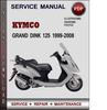 Thumbnail Kymco Grand Dink 125 1999-2008 Factory Service Repair Manual Download Pdf