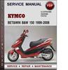 Thumbnail Kymco Bet&win B&W 150 1999-2008 Factory Service Repair Manual Download Pdf