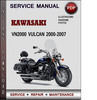 Thumbnail Kawasaki VN2000 Vulcan 2000-2007 Factory Service Repair Manual Download Pdf