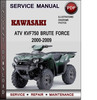 Thumbnail Kawasaki ATV KVF750 Brute Force 2000-2009 Factory Service Repair Manual Download Pdf
