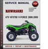 Thumbnail Kawasaki ATV KFX700 V-Force 2000-2009 Factory Service Repair Manual Download Pdf