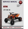 Thumbnail KTM ATV 505 SX Factory Service Repair Manual Download Pdf
