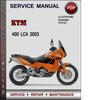 Thumbnail KTM 400 LC4 2003 Factory Service Repair Manual Download Pdf