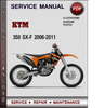 Thumbnail KTM 350 SX-F 2006-2011 Factory Service Repair Manual Download Pdf
