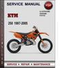 Thumbnail KTM 250 1997-2005 Factory Service Repair Manual Download Pdf