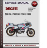 Thumbnail Ducati 500 SL Pantah 1981-1999 Factory Service Repair Manual Download Pdf