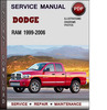 Thumbnail Dodge Ram 1999-2006 Factory Service Repair Manual Download Pdf