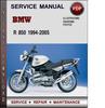 Thumbnail BMW R 850 1994-2005 Factory Service Repair Manual Download Pdf