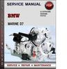 Thumbnail BMW Marine D7 Factory Service Repair Manual Download Pdf