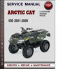 Thumbnail Arctic Cat 500 2001-2009 Factory Service Repair Manual Download Pdf