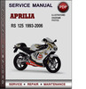 Thumbnail Aprilia RS 125 1993-2006 Factory Service Repair Manual Download Pdf
