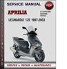 Thumbnail Aprilia Leonardo 125 1997-2003 Factory Service Repair Manual Download Pdf