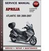 Thumbnail Aprilia Atlantic 500 2000-2007 Factory Service Repair Manual Download Pdf