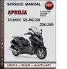 Thumbnail Aprilia Atlantic 125 and 200 2000-2005 Factory Service Repair Manual Download Pdf