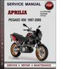 Thumbnail Aprilia Pegaso 650 1997-2005 Factory Service Repair Manual PDF
